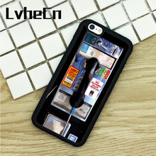 LvheCn TPU Phone Cases For iPhone 6 6S 7 8 Plus X 5 5S 5C SE 4 4S ipod touch 4 5 6 Cover PUBLIC PAYPHONE PAY PHONE CITY Funny(China)