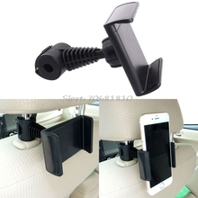 360 Degree Ratating Car/Truck Back Seat Headrest Phone Mount Holder For Cell Phone GPS -R179 Drop Shipping