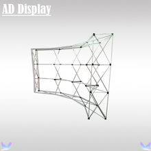10ft Economical Model Curve Shape Easy Pop Up Display Stand,Exhibition Booth Portable Advertising Wall(Only Frame)(China)