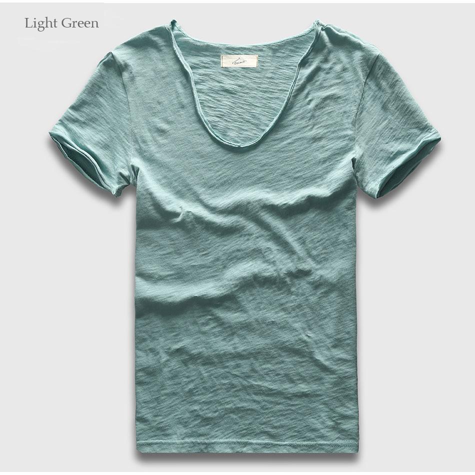 HTB1Z74QRFXXXXalaFXXq6xXFXXXG - Men Basic T-Shirt Solid Cotton V Neck Slim Fit Male Fashion T Shirts Short Sleeve Top Tees 2017 Brand