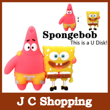 AC24 2014 New Cute Cartoon SpongeBob Model Plastic 2.0 usb memory flash stick pen drive/disk 1GB 4GB 8GB 16GB 32GB Boy Toys Gift