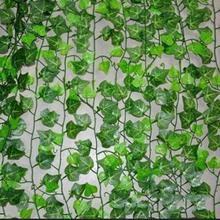 2.5m Artificial Ivy Leaf Garland Plants Vine Fake Foliage Flowers Home Decor Plastic Artificial Flower Rattan Evergreen Cirrus