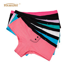 Buy YOUREGINA Women Boxers Underwear Cotton Panties Shorts Ladies Knickers Cute Boyshort Woman Lingerie 6pcs/lot