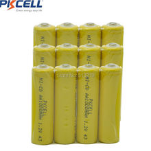 12pc AA 2A 1000mAh 1.2V Ni-Cd Ni-Cad Solar Light Rechargeable Battery Button Top