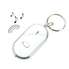 Sound Whistle Control White LED Key Finder Locator Find Lost Keychain Keys Chain #H058#