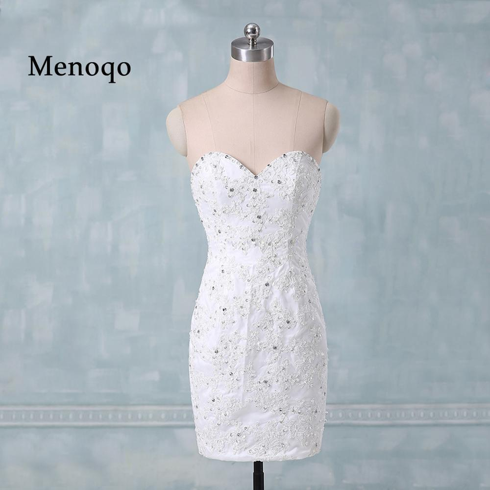 Online Get Cheap Wedding Dress Short Simple Sleeveless Knee ...