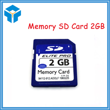 2PCS 100% Real Capacity SD Flash Memory SD Card 2GB with free shipping for Camera / Toy / Machine(China)