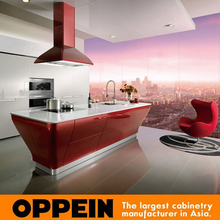 2016 Hot sale high gloss lacquer kitchen cabinet white color modern kitchen furniture OP12-L062