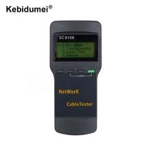kebidumei Portable SC8108 LCD Wireless Network Tester Meter&LAN Phone Cable Tester & Meter With LCD Display RJ45