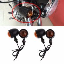 4Pcs/Set Motorcycle 12V Amber Light Bullet Turn Signal Indicator Lights For Harley for Yamaha Suzuki Dirt Bike C45