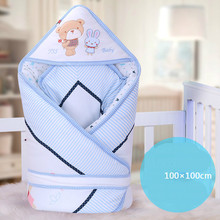 Autumn Winter Baby Blanket Baby Sleeping Bags Child Stroller Blanket Pure Cotton Material Blankets Size Is 100*100 cm T01(China)