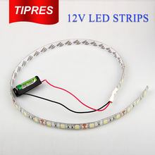 Battery Powered LED Strip 5050 SMD 50CM 30cm Warm White / Cool White Waterproof Flexible LED Strip String Light(China)