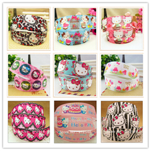YJHSMY 1491184,free shipping 22mm hello kitty printed grosgrain ribbon,Clothing accessories,DIY jewelry wedding package