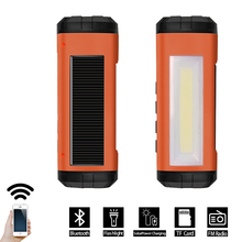 Madetec Solar Bluetooth Speaker Wireless LED Flashlight Portable Speaker  Player Support FM Radio TF Card Solar Energy Charger