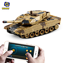 Huanqi No.H500 Bluetooth 2.0 RC Tank 1 : 36 Scale 360 Degrees Eversion Gravity Sensor Shooting Simulated Panzer Toys APP Control