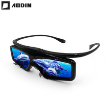 AODIN Active Shutter 3D Glasses DLP Link Virtual Reality LCD lens glasses for all DLP LINK Projector Build-in 210mAh battery