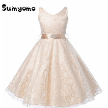 Girls Wedding Dresses Toddlers Teenager Princess Costume Clothing Formal Children Kids Tulle Dress for Prom Dress