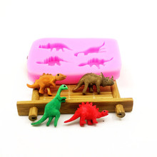 4 Different Dinosaurs Silicone Mold, Baking Chocolate Mould, Cake Decoration Mold, Kitchen Accessories LH15