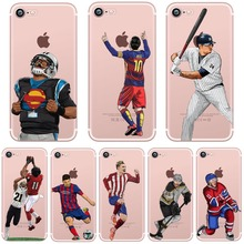 Phone Cases for iphone 5s 7 6 5 se 6s 6splus 7plus American Football Rugby Hockey Stars Transparent Coque Clear tpu Silicon Capa(China)