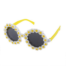 New Hot Sale Novelty Round Glasses Fancy Dress Costume Party Sunglasses Daisy Flower for Fancy Dress Parties Festivals Carnivals(China)