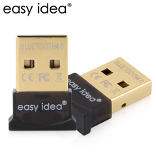 EASYIDEA Mini USB Bluetooth Adapter 4.0 Wireless Bluetooth Dongle Portable Dual Mode Transmitter 3Mbps 20M Windows 10/8/7/XP(China)