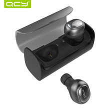 QCY Q29 3D airpods business bluetooth earphones wireless headphones and power bank for iphone 7 8 android mic calls play music