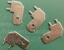 50pcs/ lot Free shipping 6.3mm connector solder lug terminals PC board connector piece brass solder terminals(China)