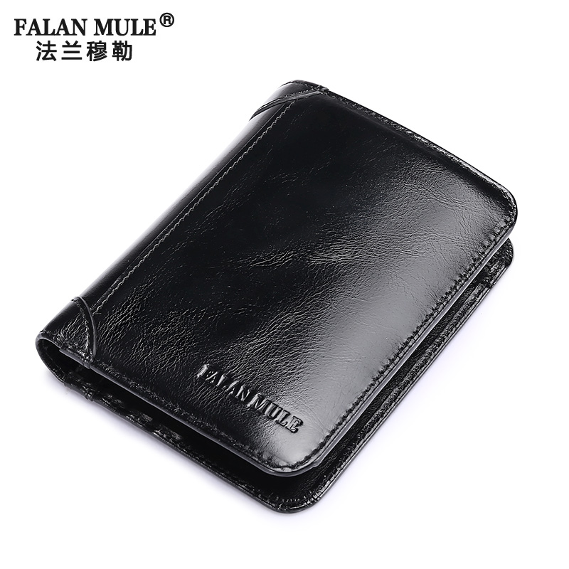 FALAN MULE Brand Genuine Leather Men Wallet Quality Male Purse Wallet Money Bags Card Holder Coin Pocket Purse Men Wallets<br><br>Aliexpress