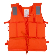 DSstyles Kid Adult Life Vest for fishing With Survival Whistle Water Sports Foam Life Jacket For Water-skiing Upstream Surfing(China)
