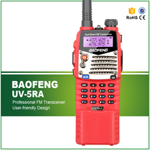 Hot Sell Red 5W Baofeng UV-5RA CTCSS DCS 1750HZ Tone Walky Talky with Long Battery and Free Earphone(China)