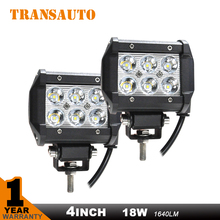 2pcs 4 Inch 18W Led Work light Off Road 4x4 4WD ATV UTV SUV Driving Motorcycle Light Truck Fog Lamp Headlight Spot Flood 12v 24v