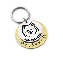 Custom Pomeranian Dog Tag, Engraved Dog Tag, Personalized Pet ID Tag, Pet Jewelry Dog Jewelry, Pomeranian Dog ID Tag
