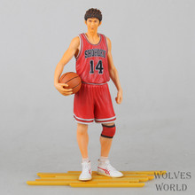 Huong Anime Slam Dunk 24CM Mitsui Hisashi Hanamichi Sakuragi PVC Action Figure Collectible Toy Model Brinquedos Christmas Gift