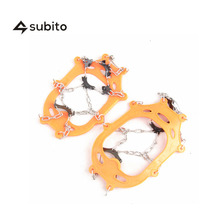 SUBITO Outdoor Hiking Climbing Crampons Travel Kits Crampon Ice Snow Traction Shoe Boot Cleats Non-Slip Gripper Spikes Chains