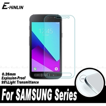 Tempered Glass Screen Protector Film For Samsung Galaxy Xcover Ace 4 Golden 2 3 W2016 W2015 W2014 W2013 E7 E5 Z3 Z1 G5308(China)