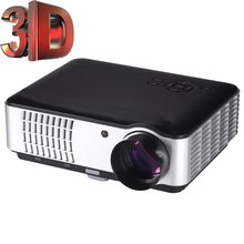 2016 1080P Full HD 3500 Lumens Home Theatre HDMI Red Blue 3D LED Home Projector