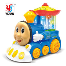 YIJUN Electric Thomas Train Toys With Light And Musical fountain Movable Eye Mouth Brinquedos Thomas And Friends Car Toys