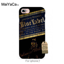 MaiYaCa soft black tpu silicone Whiskey Johnnie Walker Blue Label classic phone Accessories For iPhone se 5s 6s 7 plus case(China)