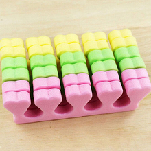 2016 New 10 Pcs Soft Toe Separator Sponge Foam Finger Nail Art Salon Pedicure Manicure Tool