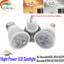 Lampada Led Spotlight   E27 E14 GU10 GU5.3 Spotlight 9W 12W 15W LED Bulb 110V 220V Dimmable  MR16  12V CREE LED LIGHT