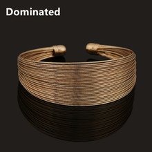 Dominated Women Fashion Openings Multilayer Wire Chains Metal Bangles(China)