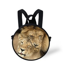 FORUDESIGNS Casual Men's Animal Horse Messenger Bags Mini Round Bags For Children Boy Crossbody Bag Kids Shoulder-bags Cool Bags