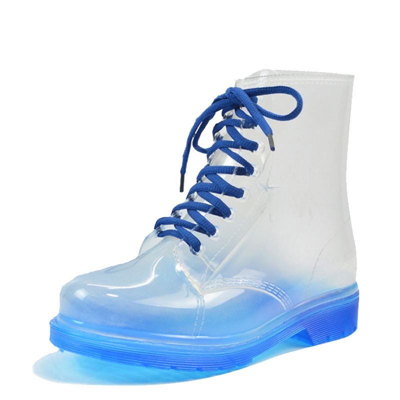 2017 Women Rainboots Transparent Waterproof Colorful Spring Autumn Shoes Rainboot Woman Ankle Boots XWX195<br><br>Aliexpress