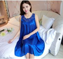 Pengpious 2017 summer dresses candy colors pregnant women sleeveless nightgown plus size ice silk thin loose pajamas maternity