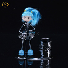 WR Birthday Party Supplies Pen Holder Metal Crafts  Hatsune Miku Design Creative Iron Ornament Student's Gifts 14X7X16cm