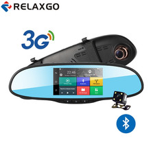 "Relaxgo 5"" Android 3G Car Camera Rearview Mirror GPS Navigation Bluetooth Car DVR Wifi Full HD 1080P Dash Cam Video Recorder(China)"