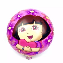 New Arrival Dora Foil Balloon Birthday Party Decoration Kids Cartoon Dora Explore Helium Ballon Classic Toys