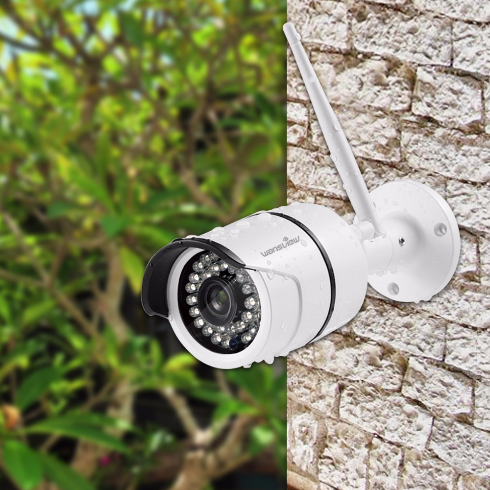 Wansview W3 Outdoor Security Camera Wireless WiFi IP Surveillance Bullet Motion Detection Camera Waterproof 720P onvif RTSP P2P<br>