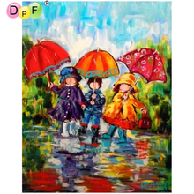 DPF DIY Open an umbrella children 5D diamond embroidery home decor mosaic kit full square diamond painting cross stitch crafts(China)