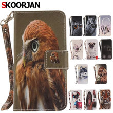 Buy Fundas LG K4 2017 M160 Case Phone Covers Coque Animals Flower Painting Pattern Flip Wallet Stand PU Leather Bag Cover Capa for $3.98 in AliExpress store